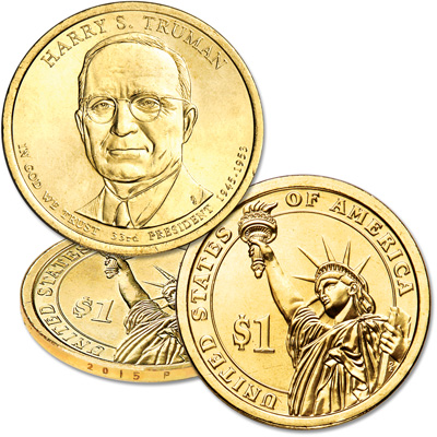 Image for 2015-P Harry S. Truman Presidential Dollar from Littleton Coin Company