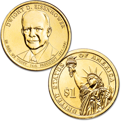 Image for 2015-P Dwight D. Eisenhower Presidential Dollar from Littleton Coin Company