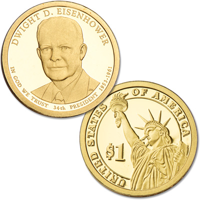 Image for 2015-S Dwight D. Eisenhower Presidential Dollar from Littleton Coin Company