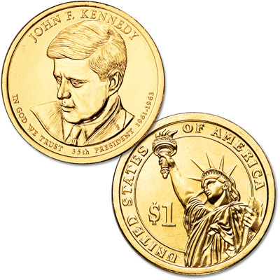 Image for 2015-P John F. Kennedy Presidential Dollar from Littleton Coin Company
