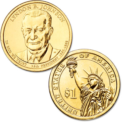 Image for 2015-P Lyndon B. Johnson Presidential Dollar from Littleton Coin Company