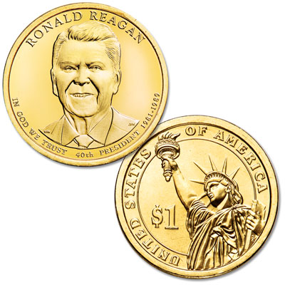 Image for 2016-D Ronald Reagan Presidential Dollar from Littleton Coin Company