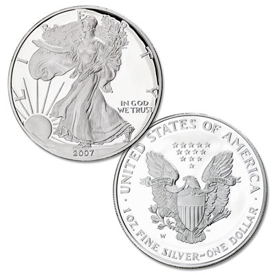 Image for 2007-W American Eagle Silver Dollar, Choice Proof, PR63 from Littleton Coin Company