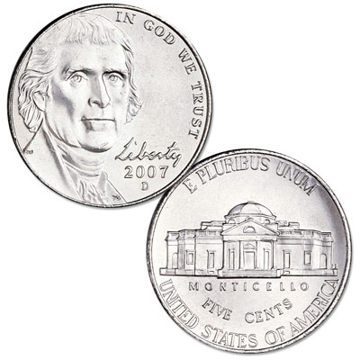 Image for 2007-D Jefferson Nickel from Littleton Coin Company