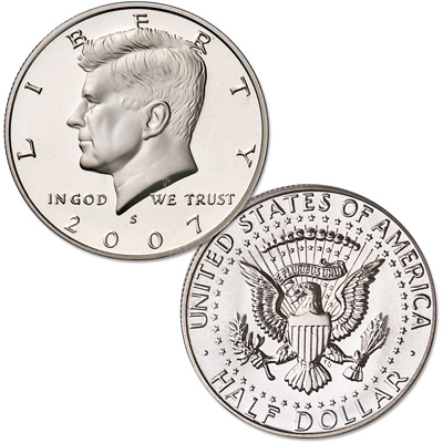 Image for 2007-S Clad Kennedy Half Dollar from Littleton Coin Company
