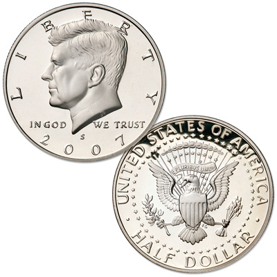 Image for 2007-S 90% Silver Kennedy Silver Half Dollar from Littleton Coin Company