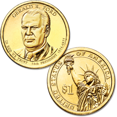Image for 2016-P Gerald R. Ford Presidential Dollar from Littleton Coin Company