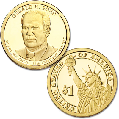 Image for 2016-S Gerald R. Ford Presidential Dollar from Littleton Coin Company