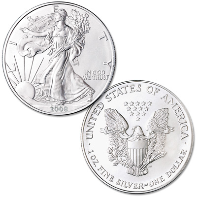 Image for 2008 $1 Silver American Eagle, Uncirculated from Littleton Coin Company