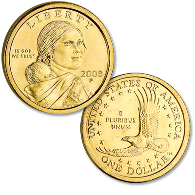 Image for 2008-P Sacagawea Dollar, Uncirculated, MS60 from Littleton Coin Company