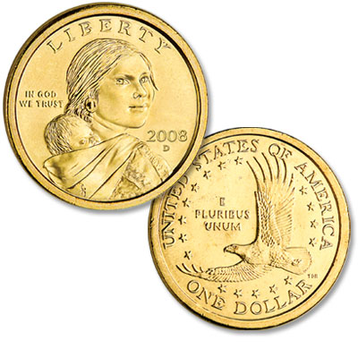Image for 2008-D Sacagawea Dollar, Uncirculated, MS60 from Littleton Coin Company