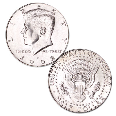 Image for 2008-D Kennedy Half Dollar, Uncirculated, MS60 from Littleton Coin Company