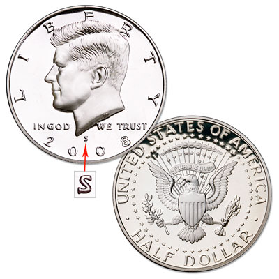 Image for 2008-S Kennedy Half Dollar, Proof, PR63 from Littleton Coin Company