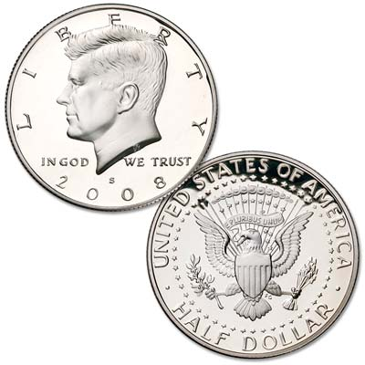 Image for 2008-S 90% Silver Kennedy Half Dollar from Littleton Coin Company