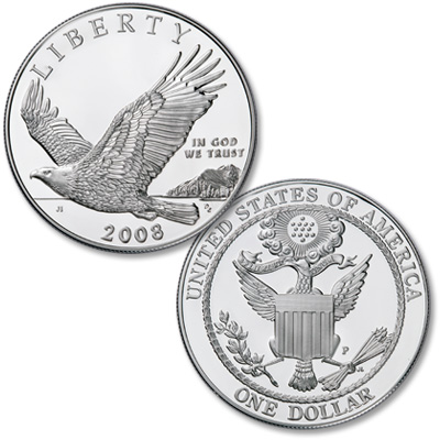 Image for 2008-P Bald Eagle Silver Dollar Commemorative from Littleton Coin Company