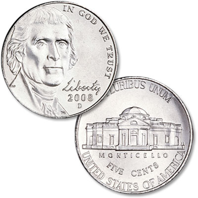 Image for 2008-P Jefferson Nickel, Uncirculated, MS60 from Littleton Coin Company