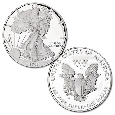 Image for 2008-W American Eagle Silver Dollar from Littleton Coin Company