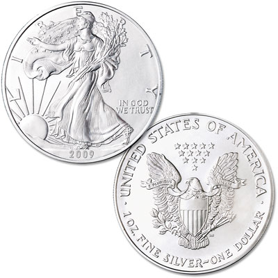 Image for 2009 $1 Silver American Eagle, Uncirculated from Littleton Coin Company