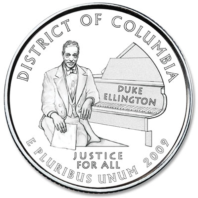 Image for 2009-D District of Columbia Territory Quarter, Uncirculated, MS60 from Littleton Coin Company