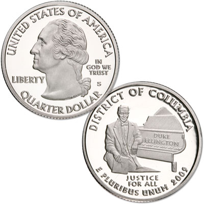 Image for 2009-S 90% Silver District of Columbia Territories Quarter, Choice Proof, PR63 from Littleton Coin Company