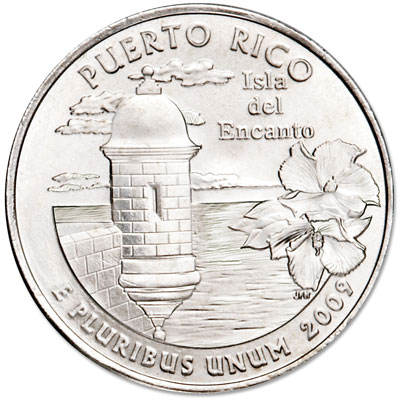 Image for 2009-P Puerto Rico Territories Quarter, Uncirculated, MS60 from Littleton Coin Company