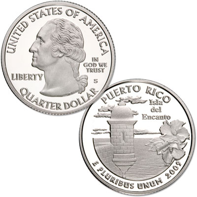 Image for 2009-S 90% Silver Puerto Rico Territories Quarter, Choice Proof, PR63 from Littleton Coin Company