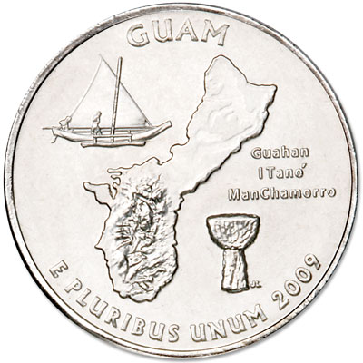 Image for 2009-P Guam Territories Quarter, Uncirculated, MS60 from Littleton Coin Company