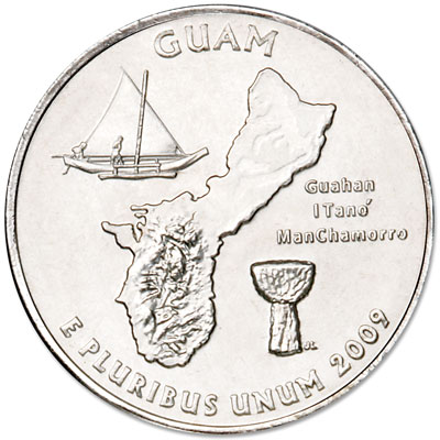 Image for 2009-D Guam Territories Quarter, Uncirculated, MS60 from Littleton Coin Company