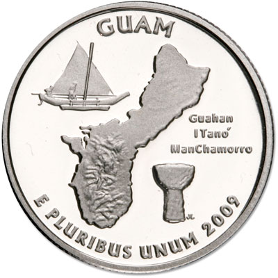 Image for 2009-S Guam Territories Quarter, Choice Proof, PR63 from Littleton Coin Company