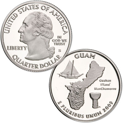 Image for 2009-S 90% Silver Guam Territories Quarter from Littleton Coin Company