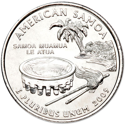 Image for 2009-D American Samoa Territories Quarter, Uncirculated, MS60 from Littleton Coin Company