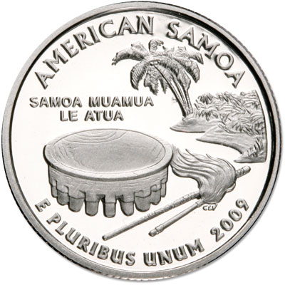Image for 2009-S American Samoa Territories Quarter, Choice Proof, PR63 from Littleton Coin Company