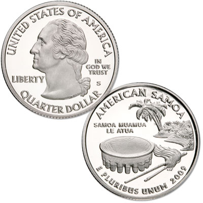 Image for 2009-S 90% Silver American Samoa Territories Quarter, Choice Proof, PR63 from Littleton Coin Company