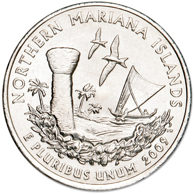 Image for 2009-D Northern Mariana Islands Territories Quarter, Uncirculated, MS60 from Littleton Coin Company