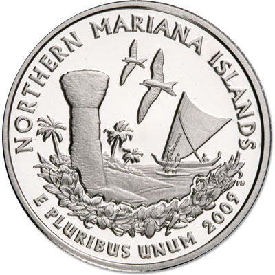 Image for 2009-S 90% Silver Northern Mariana Islands Territories Quarter, Choice Proof, PR63 from Littleton Coin Company