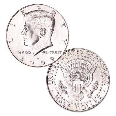 Image for 2009-D Kennedy Half Dollar, Uncirculated, MS60 from Littleton Coin Company
