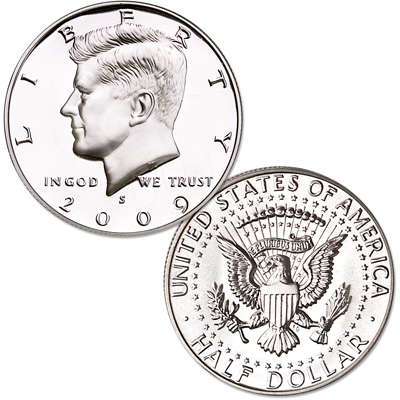 Image for 2009-S Kennedy Half Dollar, Choice Proof, PR63 from Littleton Coin Company