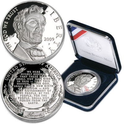 Image for 2009 Abraham Lincoln Bicentennial Silver Dollar, PR63 from Littleton Coin Company