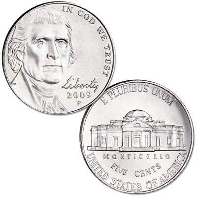 Image for 2009-P Jefferson Nickel from Littleton Coin Company