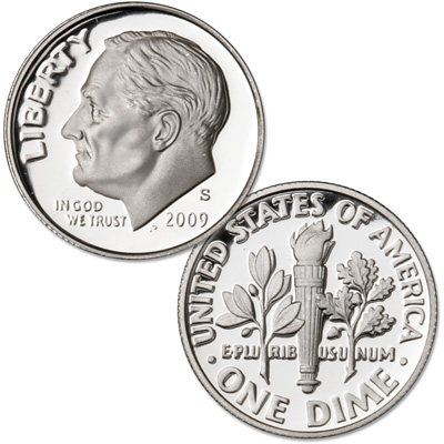Image for 2009-S Roosevelt Dime from Littleton Coin Company