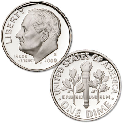 Image for 2009-S 90% Silver Roosevelt Dime, Choice Proof, PR63 from Littleton Coin Company