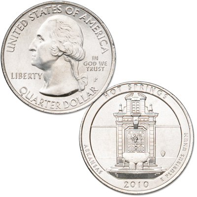 Image for 2010-P Hot Springs National Park Quarter from Littleton Coin Company