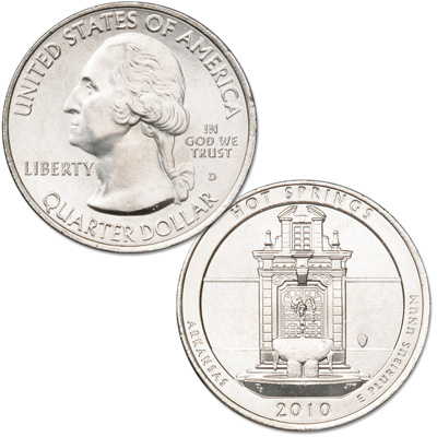 Image for 2010-D Hot Springs National Park Quarter from Littleton Coin Company