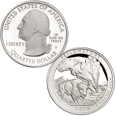 Image for 2010-S Yellowstone National Park Quarter from Littleton Coin Company