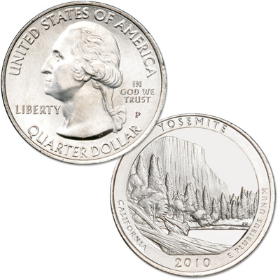 Image for 2010-P Yosemite National Park Quarter from Littleton Coin Company