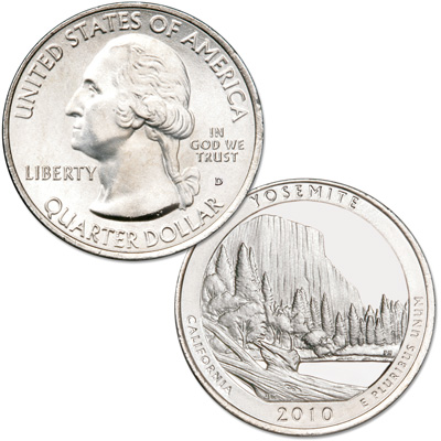 Image for 2010-D Yosemite National Park Quarter from Littleton Coin Company