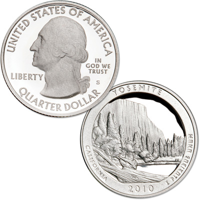 Image for 2010-S Yosemite National Park Quarter from Littleton Coin Company