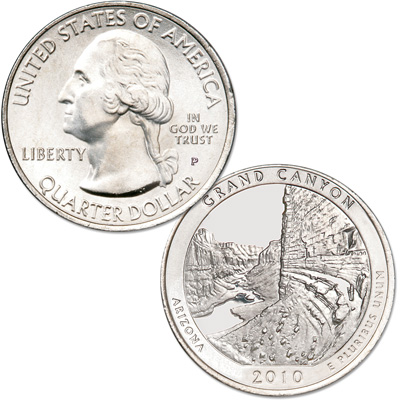 Image for 2010-P Grand Canyon National Park Quarter from Littleton Coin Company