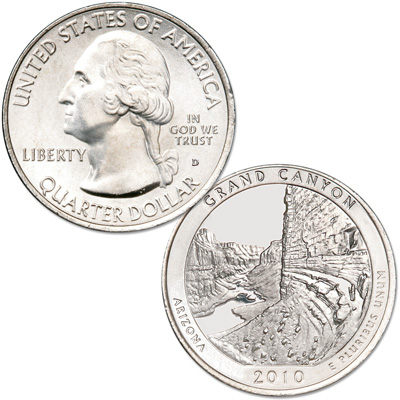 Image for 2010-D Grand Canyon National Park Quarter from Littleton Coin Company