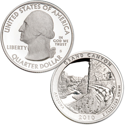 Image for 2010-S Grand Canyon National Park Quarter from Littleton Coin Company